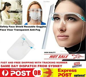 Full Face Shield Visor Covering Protection Mask Safety Clear Glasses Anti-fog
