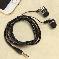 Permium Braided 3.5mm In-Ear Earphone Stereo Headphones Headset Metal Earbud Lot