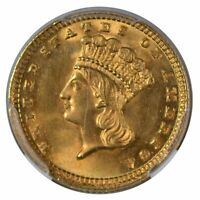 1883 $1 Gold Piece Type 3 NGC MS64