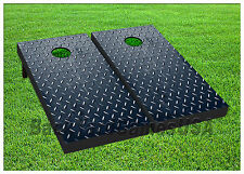 VINYL WRAPS Cornhole Boards DECAL Diamond Plate Bag Toss Game Stickers 472