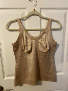 Ruby Ribbon Sheer full support cami sz 42 pale NWOT