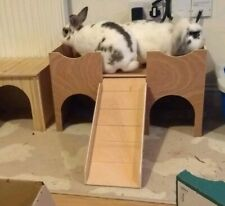 NEW LARGER RABBIT VERSION OF MY TWO STOREY  CASTLE /SHELTER (FULLY ASSEMBLED)