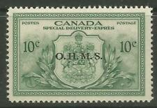 STAMPS-CANADA. 1949. O.H.M.S. Official on 10c Special Delivery. SG: OS17. MNH.