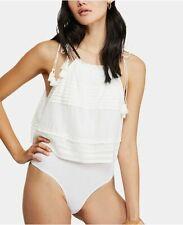 New Free People Trust Me Bodysuit, White, Medium, RRP $68