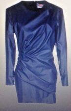 Robe luxe simili cuir MSGM Modèle fourreau taille 38 40 Bleu Foncé neuve