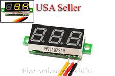 """Mini DC 0-100V Yellow LED 3-Digital Display Voltage Voltmeter 0.28"""" Volt Meter"""