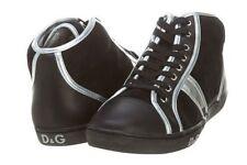 D&G VITELLO+CROSTA+LAMINA MENS    Mens DU0979_E7830 BLACK/SILVER Sneakers SZ-8