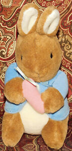 "Peter Rabbit Eden Carrot Blue Coat 7"" Easter Beatrix Potter Lovey Plush Bunny"