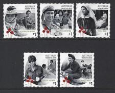 AUSTRALIA 2017 WOMEN IN WAR SET OF 5 UNMOUNTED MINT, MNH