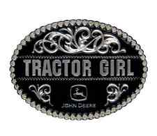 Montana Silversmiths John Deere Tractor Girl in Black Attitude Buckle (A290JDS)