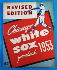 1953 CHICAGO WHITE SOX YEARBOOK REVISED EDITION EX+
