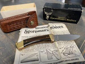 VINTAGE BROWNING JAPAN SPORTSMAN'S 3018F1 Single BLADE Pocket Knife *SEE DETAILS
