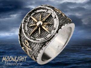 Navy Marine Seal Anchor Ship Captain Vintage Men's Ring