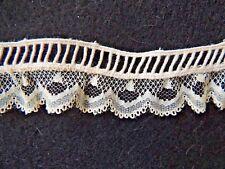 Ancien métrage galon ajouré ancien dentelle, 9m écru vintage lace couture