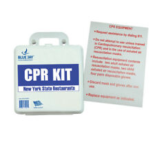 COMS-BJ170125-First Aid Kit - CPR Restaurant (New York State) w/Poster