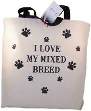 I Love My Mixed Breed Tote Bag New Made In Usa