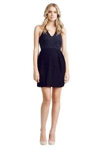 Nicola Finetti - Pleated Black Dress | Black | Size 12 | RRP: $425
