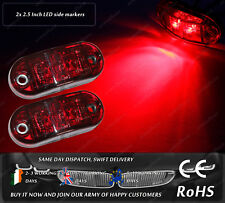 LED Red Truck Trailer Jeep 12v 24v Side Markers Position Bulbs Lights DOT E Mark