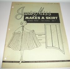 VINTAGE HOW TO SEW BK 1962 COLO STATE UNIVERSITY JUNIOR MISS MAKES A SKIRT #2734