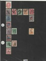 mexico overprints stamps ref 12003