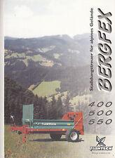 Prospekt Berg Dungstreuer FARMTECH  400 500 550