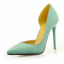 Women Party Club Shoes New Suede Sexy Point Toe Pumps Stiletto High Work Heels
