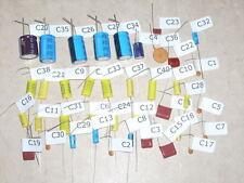 WURLITZER JUKEBOX AMPLIFIER AMP CAP CAPACITOR KIT FOR 526 AMP MODELS 1600A 1650A