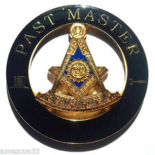 Past Master  Black And Gold Freemason Cut Out  High Quality Auto Emblem #01