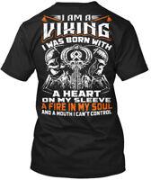 Printed Viking_odin_norse - I Am A Viking Was Born Hanes Tagless Tee T-Shirt