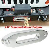 6''x1.7'' Aluminum Winch Hawse Fairlead For Synthetic Rope Cable 3000-4000lbs
