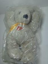 VTG Dakin Cuddles Plush Teddy Bear Yellow Ribbon 1980 Johnson Tooth Beary