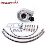 """Kinugawa Ball Bearing Turbo 4"""" GT3076R AR.73 Fits NISSAN RB20 RB25DET w/ Bolt on"""