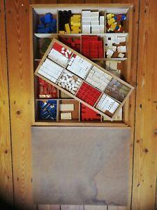 Vintage 1960s Lego 700k-1 Kindergarten Set in Wooden Box, most original contents