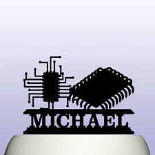 Ingeniero electrónico personalizado de acrílico computadora circuito Cake Topper