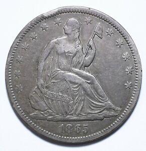 1865, S, USA, 1/2 Dollar, Seated Libert, gVF, Silver, KM# A68, Lot [1579]