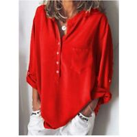 Tops T-shirt Ladies Blouse Fashion Loose Long Sleeve Solid Casual Shirt Women's