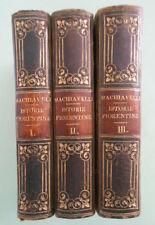 Le Istorie Fiorentine Di N. Machiavelli  1-2-3- voll.Parigi 1825 mini libri