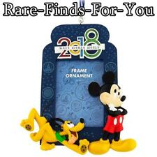 Disney Parks 2018 Mickey Mouse and Pluto Picture Frame Christmas Ornament (NEW)