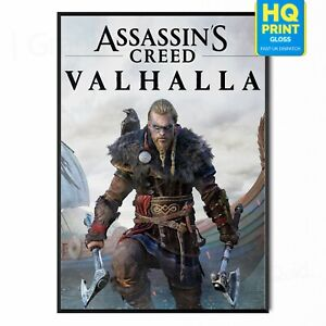 Assassin's Creed Valhalla 2021 Video Game Poster Art | A5 A4 A3 A2 A1 |