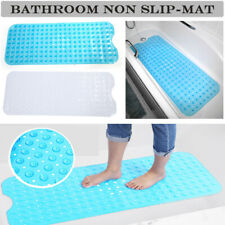 Extra Long Bath Tub Mat Non Slip Bathroom Shower Blue Bathtub Antibacterial