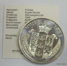 "Niue Islands, 5-Dollar 1988 ""Franz Beckenbauer"" Stgl."