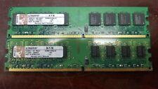 Kingston 2GB 2x1GB DDR2 667MHz PC2-5300 Desktop RAM Memory KVR667D2N5/1G