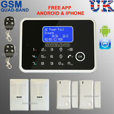 WIRELESS LCD SECURITY TEMP GSM AUTODIAL HOME HOUSE OFFICE BURGLAR INTRUDER ALARM
