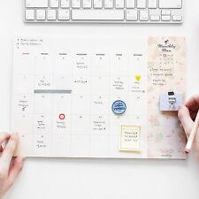 Iconic - Pattern Scheduler Desk Monthly Pad Planner Korean Planner Agenda Cute