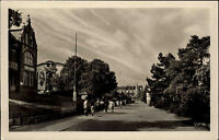 Zinnowitz Usedom Ostsee DDR s/w AK 1955 Partie an der Strandpromenade Personen