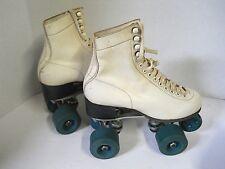 Vtg Don Jackson Boot Czech White Roller Skates Women M 5 Collector Display Only
