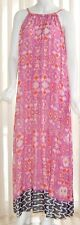Moon & Meadow Dress Pink Maxi Abstract Print Size XL