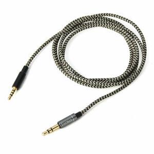Nylon Audio Cable For Creative Hitz WP380 AURVANA PLATINUM/GOLD headphones