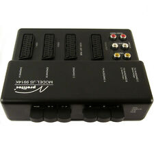 SCART VIDEO AUDIO CINCH 3-fach UMSCHALTER, VERTEILER, SWITCH, Umschaltpult, Box