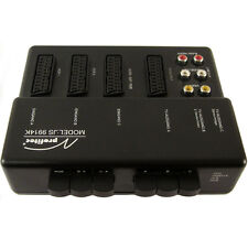 Scart audio de vídeo cinch 3-especializada conmutador, distribuidores, switch, umschaltpult, Box